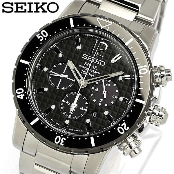 【送料無料】セイコー SEIKO 腕時計 メンズ クロノグラフ ソーラー クロノ 100m防水 SSC245P1 逆輸入 人気 ブランド ランキング ウォッチ うでどけい MEN'S