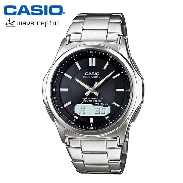 【カシオ・ソーラー電波時計】CASIO ウェーブセプター ソーラー 電波 メンズ 腕時計 電波ソーラー WVA-M630D-1AJF MEN'S うでどけい 国内正規品