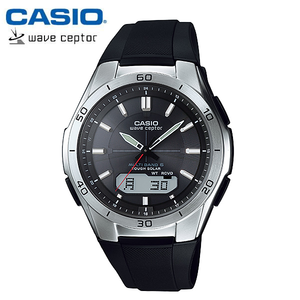 【カシオ・ソーラー電波時計】CASIO ウェーブセプター ソーラー 電波 メンズ 腕時計 電波ソーラー WVA-M640-1AJF MEN'S うでどけい 国内正規品