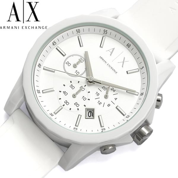 【送料無料】ARMANI EXCHANGE アルマーニ エクスチェンジ クロノグラフ 腕時計 ウォッチ メンズ クオーツ 日常生活防水 デイトカレンダー ラバーベルト ax1325