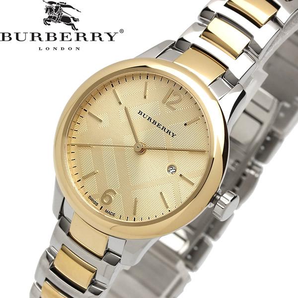 【送料無料】BURBERRY バーバリー 腕時計 ウォッチ レディース クオーツ 5気圧防水 デイトカレンダー ステンレス スイス製 bu10118