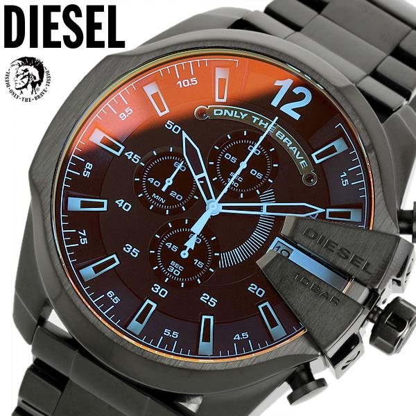 ディーゼル DIESEL 腕時計 フルブラック DZ4318 メンズ 腕時計 カラーガラス メガチーフ MEGA CHIEF クロノグラフ 腕時計 MEN'S うでどけい ウォッチ 人気 ブランド ランキング【DIESEL ディーゼル DZ4318】