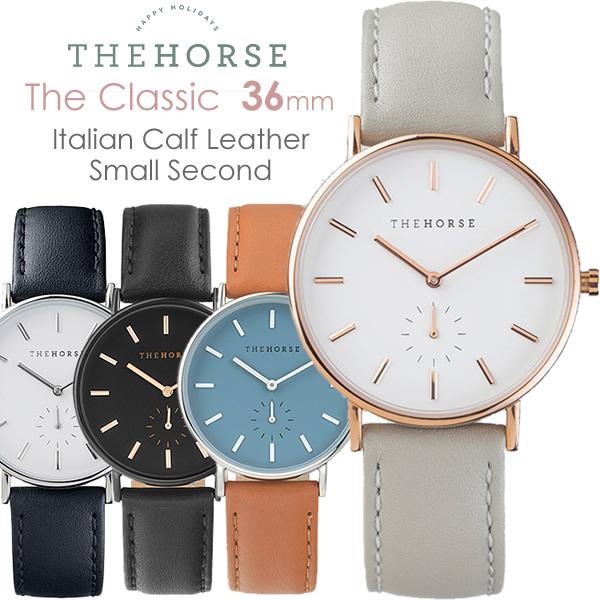 【スーパーSALE】The Horse ザ・ホース 腕時計 レディース 革ベルト レザー ウォッチ ブランド 人気 クラシック THE CLASSIC 36mm 父の日 ギフト