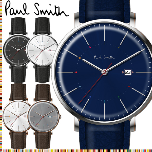 【送料無料】ポールスミス Paul Smith 腕時計 メンズ 革ベルト Track 42mm 本革レザーベルト クラシック ブランド 人気 ウォッチ ギフト プレゼント