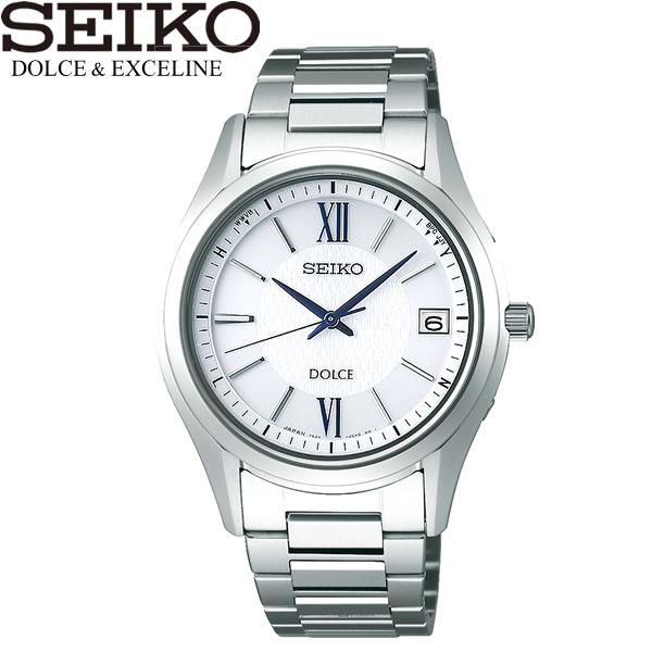 【送料無料】seiko DOLCE&EXCELINE セイコー ドルチェアンドエクセリーヌ 腕時計 ウォッチ メンズ 男性用 電波ソーラー 10気圧防水 sadz185