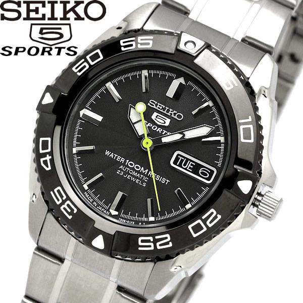 【送料無料】seiko 5 SPORT セイコー ファイブ スポーツ 腕時計 ウォッチ メンズ 自動巻き 10気圧防水 シースルーバック snzb23j1