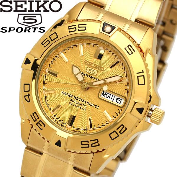 【送料無料】seiko 5 SPORT セイコー ファイブ スポーツ 腕時計 ウォッチ メンズ 自動巻き 10気圧防水 シースルーバック snzb26j1