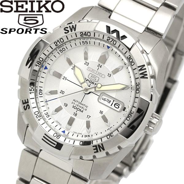 【スーパーSALE】【送料無料】seiko 5 SPORT セイコー ファイブ スポーツ 腕時計 ウォッチ メンズ 自動巻き 10気圧防水 シースルーバック snzj03js1