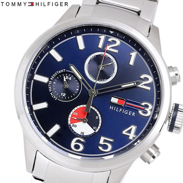TOMMYHILFIGER トミーヒルフィガー クオーツ メンズ 腕時計 5気圧防水 24時間表示 日付曜日表示 マルチファンクション ステンレス カジュアル ブランド 1791242