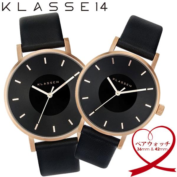 【送料無料】KLASSE14 クラスフォーティーン ペアウォッチ 腕時計 ウォッチ 42mm×36mm メンズ レディース 革ベルト レザー VOLARE vo16rg005w vo16rg005m
