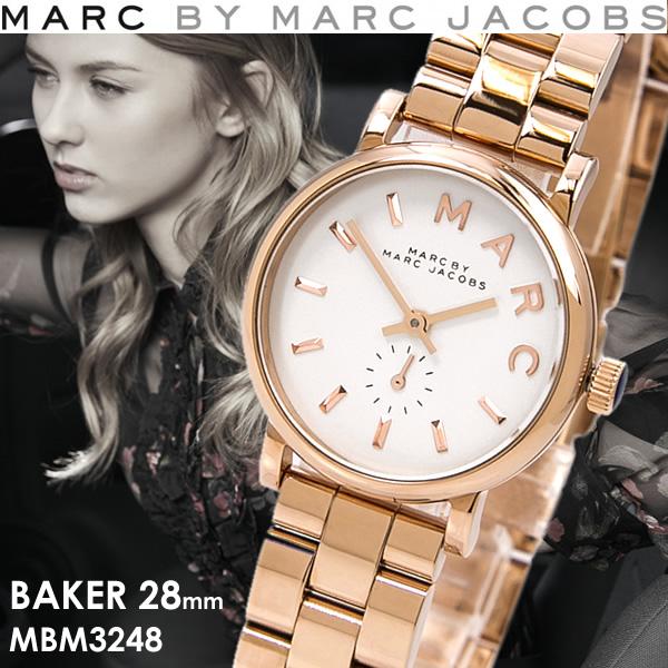 マークバイマークジェイコブス MARC BY MARC JACOBS BAKER ベイカー 腕時計 レディース クオーツ スモールセコンド 5気圧防水 MBM3248