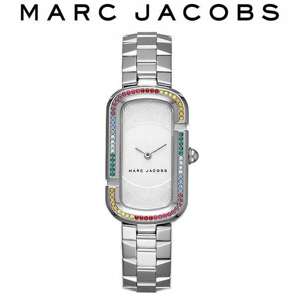 【送料無料】MARC JACOBS マークジェイコブス 腕時計 ウォッチ レディース 女性用 レインボー グリッツ 5気圧防水 スクエア カラフル ラインストーン MJ3534