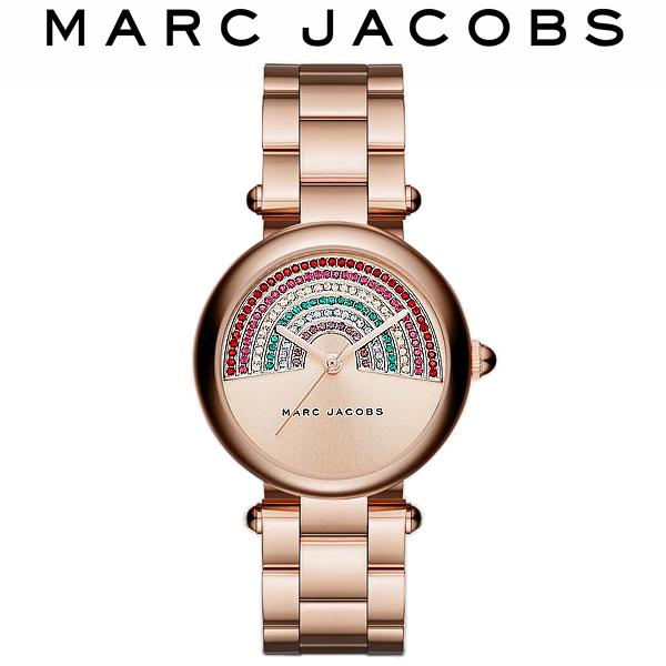 【スーパーSALE】【半額 50%OFF】【送料無料】MARC JACOBS マークジェイコブス 腕時計 ウォッチ レディース 女性用 レインボー グリッツ クオーツ 5気圧防水 ラインストーン レインボー MJ3546