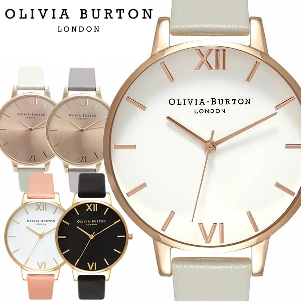 OLIVIA BURTON オリビアバートン BIG DIAL 時計 クオーツ レディース シンプル アナログ3針 ステンレス ソフトレザー SNS 人気 海外 ブランド OB-02