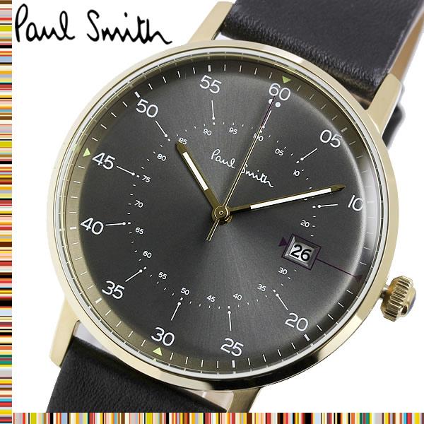 PAUL SMITH ポールスミス メンズ 男性用 腕時計 ウォッチ クオーツ 3気圧防水 日付カレンダー ステンレス レザーベルト クラシック ファッション P10076