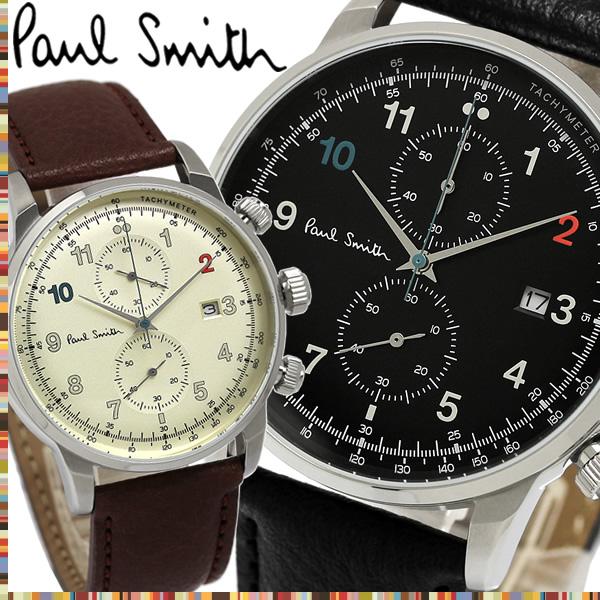 【送料無料】PAUL SMITH ポールスミス メンズ 男性用 腕時計 ウォッチ クオーツ 3気圧防水 スモールセコンド クロノグラフ P10140 P10141