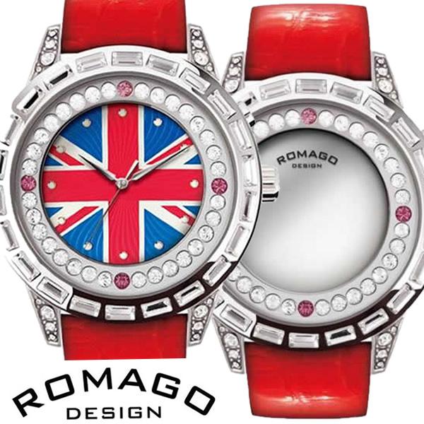 【送料無料】 ロマゴデザイン腕時計 ROMAGODESIGN時計 ROMAGO DESIGN 腕時計 ロマゴ デザイン 時計 ダズルシリーズ Dazzle series レディース/シルバー RM006-0310ST-RD