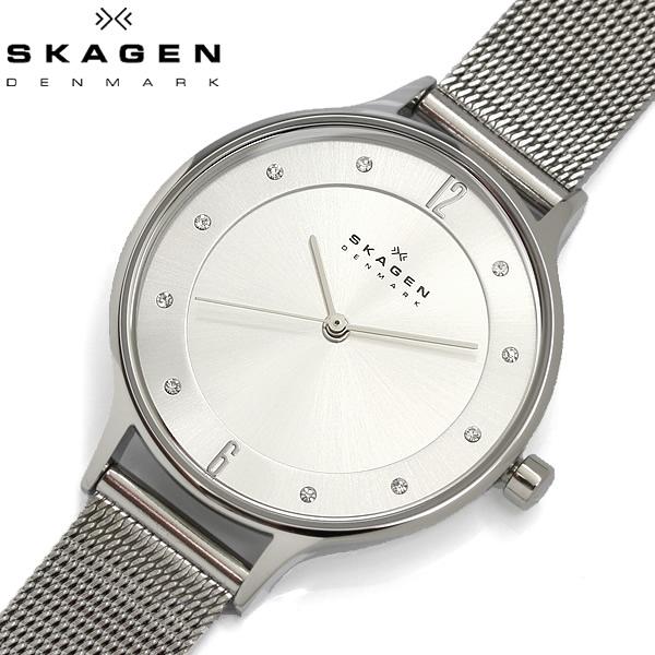 【送料無料】 SKAGEN スカーゲン 腕時計 ウォッチ レディース 女性用 シルバー クオーツ 3気圧防水 ステンレスメッシュ ANITA アニタ SKW2149
