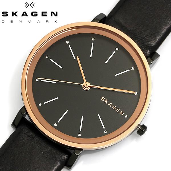 【送料無料】 SKAGEN スカーゲン 腕時計 ウォッチ レディース 女性用 革ベルト クオーツ 3気圧防水 ANCHER アンカー SKW2490