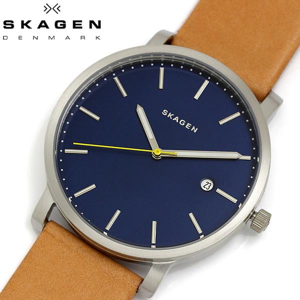 【送料無料】 SKAGEN スカーゲン 腕時計 ウォッチ メンズ 男性用 革ベルト クオーツ 5気圧防水 HAGEN ハーゲン SKW6279