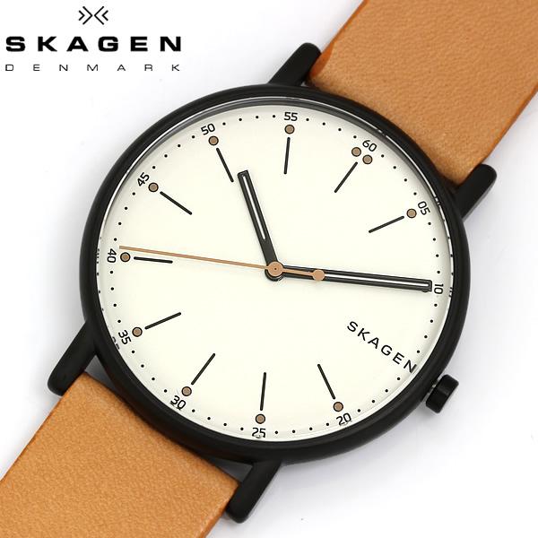 【送料無料】 SKAGEN スカーゲン 腕時計 ウォッチ メンズ 男性用 革ベルト クオーツ 5気圧防水 SIGNATUR シグネチャー SKW6352