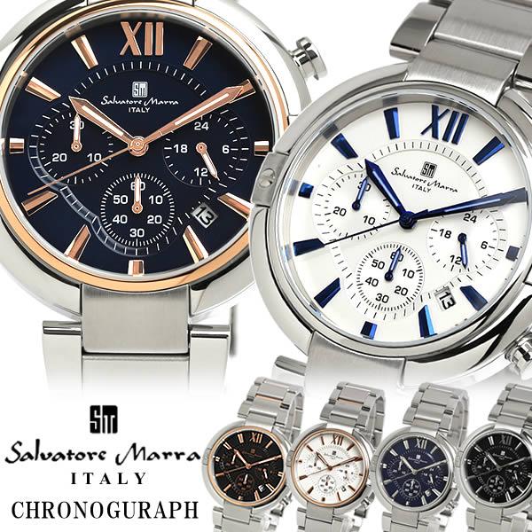 【送料無料】Salvatore Marra サルバトーレマーラ 腕時計 ウォッチ メンズ 男性用 クオーツ 10気圧防水 クロノグラフ デイトカレンダー sm17106