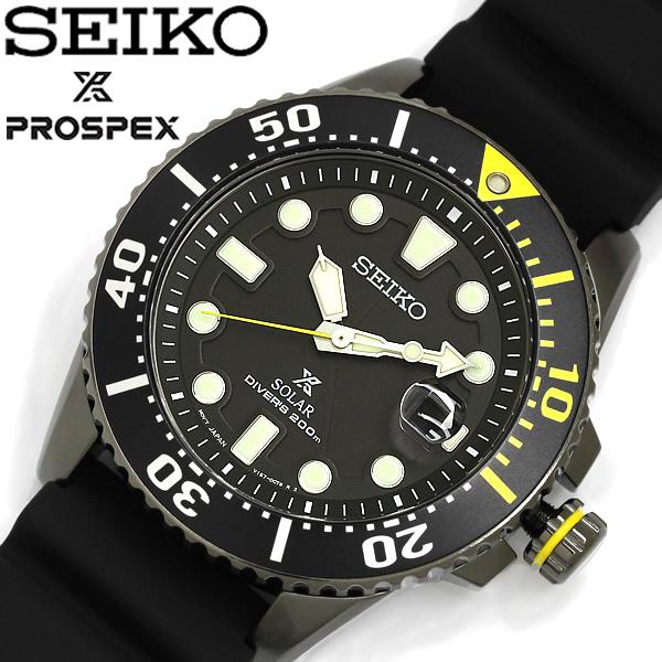 【送料無料】SEIKO PROSPEX セイコー プロスペックス 腕時計 ラバーベルト ダイバーズウォッチ メンズ クオーツ ソーラー 200M防水 SNE441P1