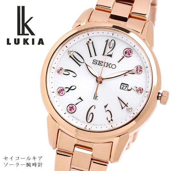 SEIKO LUKIA セイコー ルキア seiko ソーラー クオーツ 腕時計 レディース 10気圧防水 日付カレンダー ステンレス サファイアガラス ピンクゴールド SUT302J1