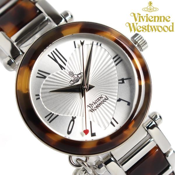 【送料無料】【Vivienne Westwood】 ヴィヴィアンウエストウッド 腕時計 オーブチャーム付き ORB オーブ ブランド レディース ウォッチ VV006SLBR