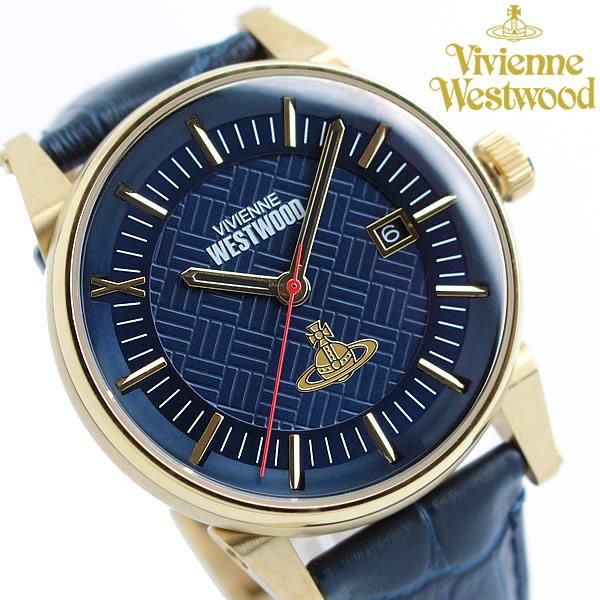 【送料無料】【Vivienne Westwood】 ヴィヴィアンウエストウッド メンズ 腕時計 レザー ブランド ウォッチ VV065BLBL