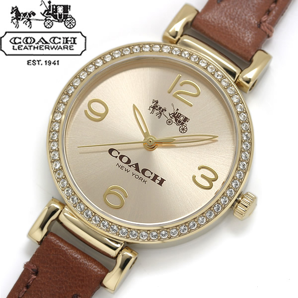 【送料無料】COACH コーチ MADISON FASHION マディソン ファッション 腕時計 ウォッチ レディース クオーツ 日常生活防水 ラインストーンベゼル 14502650
