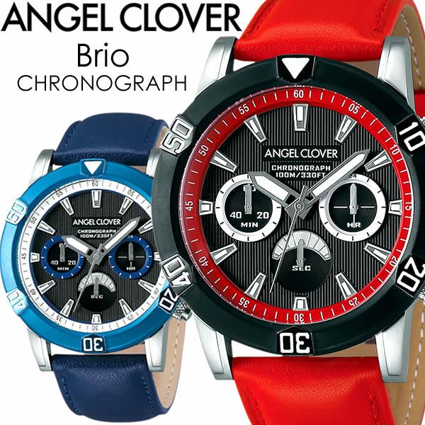 【送料無料】ANGEL CLOVER エンジェルクローバー Brio ブリオ 腕時計 ウォッチ メンズ クオーツ 10気圧防水 クロノグラフ bbk-re bubk-nv