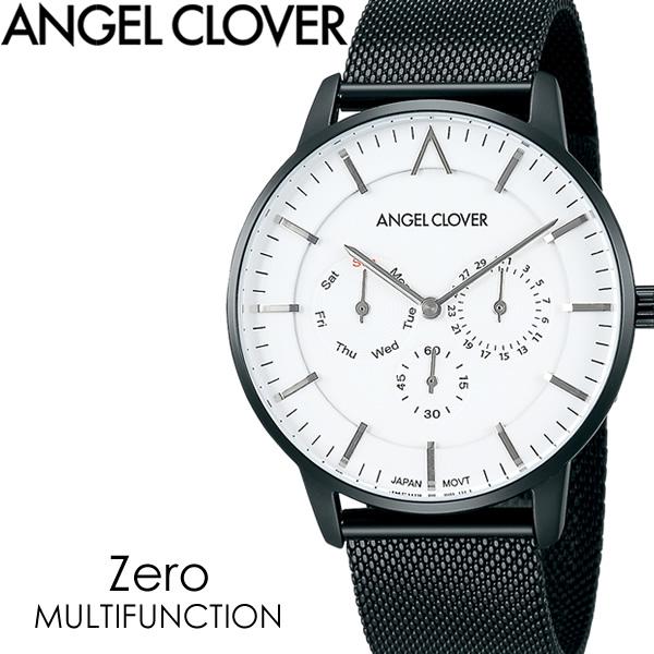 【送料無料】ANGEL CLOVER エンジェルクローバー Zero ゼロ 腕時計 ウォッチ メンズ クオーツ 3気圧防水 カレンダー メッシュベルト 替えベルト付き ze42bwh