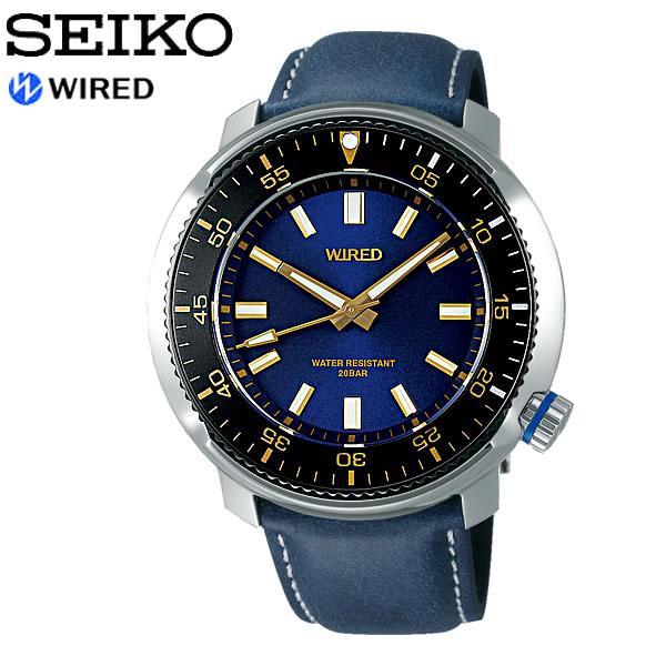 【SEIKO WIRED】 セイコー ワイアード SOLIDITY ソリディティ クオーツ腕時計 メンズ 20気圧防水 3針 ルミブライト 回転ベゼル ハードレックス AGAJ407