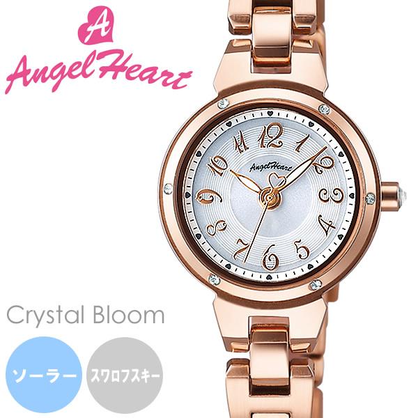 【送料無料】AngelHeart エンジェルハート 腕時計 ウォッチ レディース 女性用 ソーラー 日常生活防水 スワロフスキーエレメント cb22pg