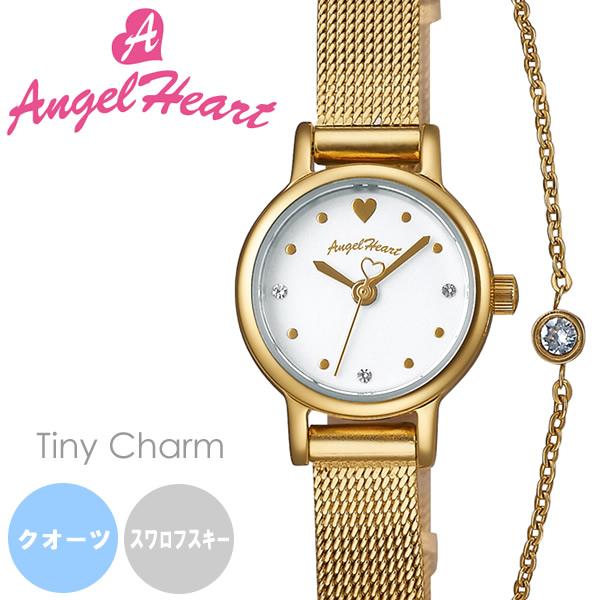 【送料無料】AngelHeart エンジェルハート 腕時計 ウォッチ レディース クオーツ 日常生活防水 タイニーチャーム 替えベルト2本 レザー tc19yg