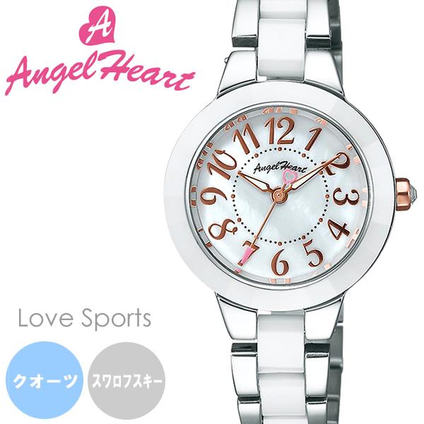 【送料無料】AngelHeart エンジェルハート Love Sports ラヴスポーツ 腕時計 ウォッチ レディース クオーツ 日常生活防水 シェル文字盤 wl27c