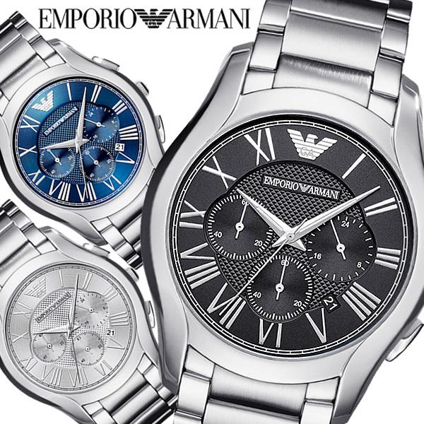 EMPORIO ARMANI エンポリオ アルマーニ VALENTE クオーツ腕時計 メンズ クロノグラフ 日常生活防水 ステンレス シンプル フォーマル カジュアル AR-01