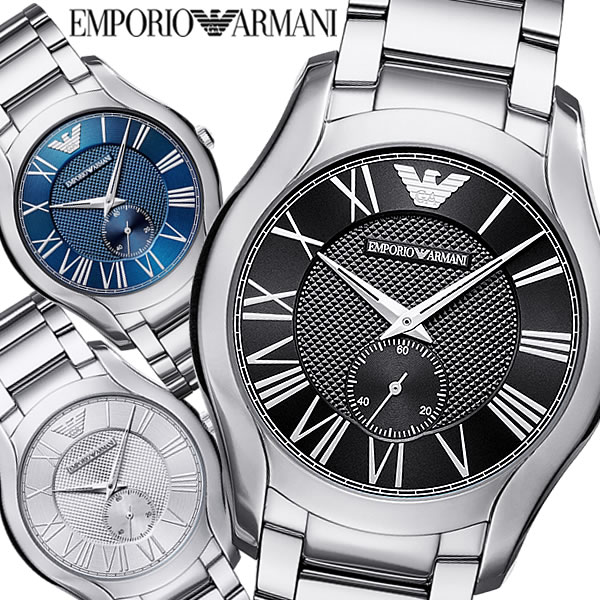 EMPORIO ARMANI エンポリオ アルマーニ VALENTE クオーツ腕時計 メンズ スモールセコンド 日常生活防水 ステンレス シンプル フォーマル カジュアル AR-02