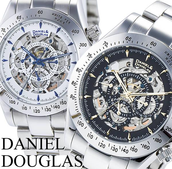 DANIEL DOUGLAS ダニエル・ダグラス 自動巻 オートマチック メンズ 男性用 腕時計 ウォッチ スケルトン マルチカレンダー