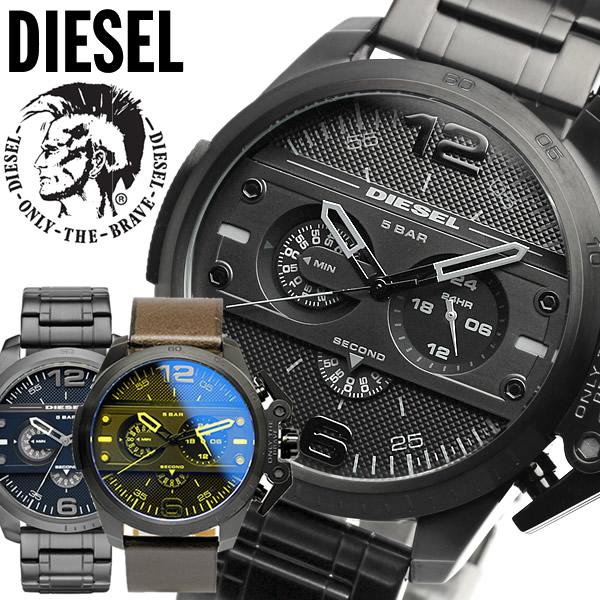 【感謝SALE】【送料無料】DIESEL ディーゼル 腕時計 ウォッチ メンズ 5気圧防水 ビックケース クロノグラフ ブラック ガンメタル アイアンサイド ディーゼル 時計 DZ4362 DZ4398