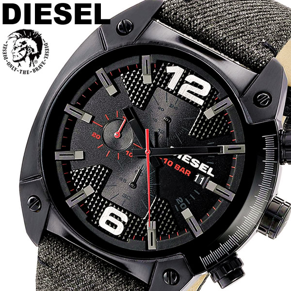 【送料無料】DIESEL ディーゼル 腕時計 ウォッチ メンズ 男性用 クオーツ 10気圧防水 デニム レザー dz4373