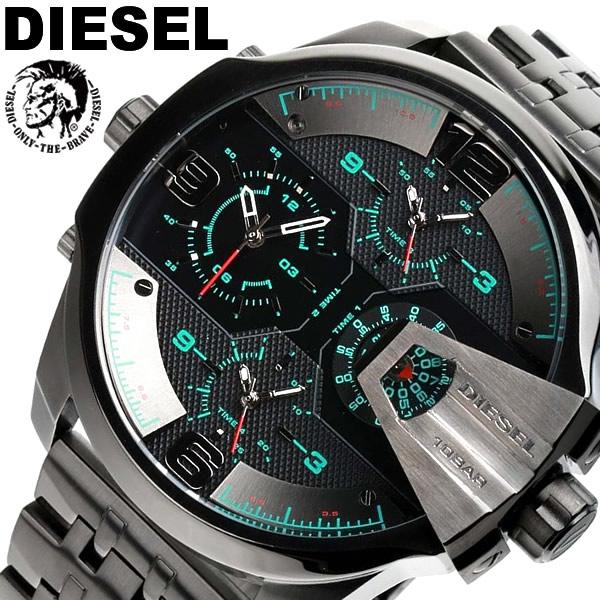 【送料無料】DIESEL ディーゼル 腕時計 ウォッチ メンズ 男性用 クオーツ 10気圧防水 ビッグフェイス クロノグラフ ブラック DZ7372