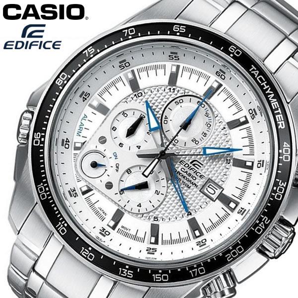 【送料無料】 CASIO EDIFICE カシオ エディフィス 腕時計 ウォッチ メンズ 男性用 クオーツ 10気圧防水 クロノグラフ ホワイト EF-545D-7AV