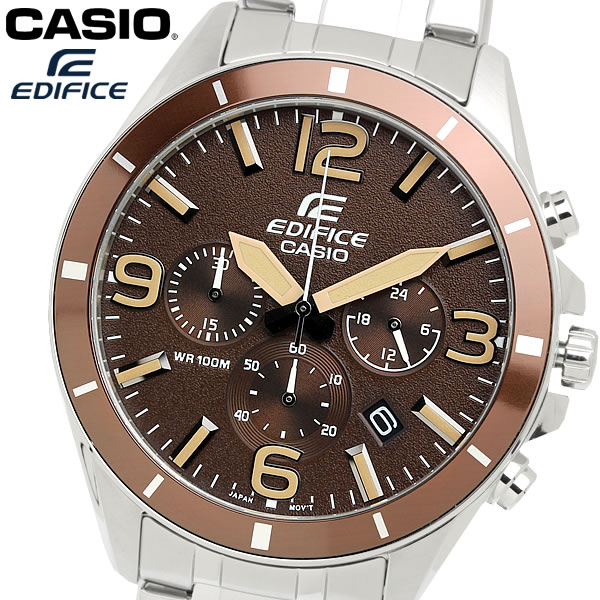 casio EDIFICE カシオ エディフィス クオーツ 腕時計 メンズ クロノグラフ 10気圧防水 スクリューロックバック ステンレス ウォッチ EFR553D5B