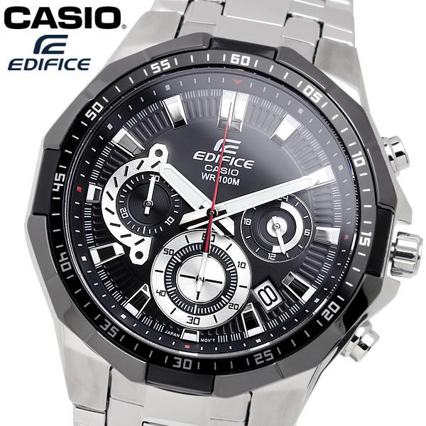 casio EDIFICE カシオ エディフィス クオーツ 腕時計 メンズ クロノグラフ ストップウォッチ 10気圧防水 カレンダー 日付 ステンレス ウォッチ EFR554D1A