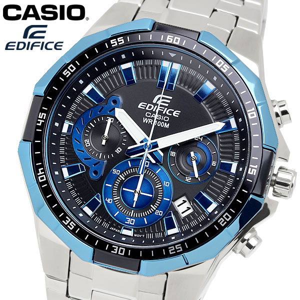 casio EDIFICE カシオ エディフィス クオーツ 腕時計 メンズ クロノグラフ ストップウォッチ 10気圧防水 カレンダー 日付 ステンレス ウォッチ EFR554D1A2