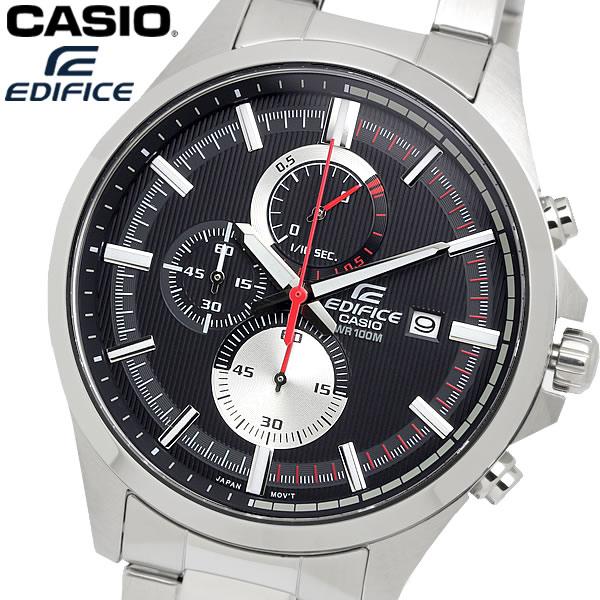 casio EDIFICE カシオ エディフィス クオーツ 腕時計 メンズ クロノグラフ 10気圧防水 日付カレンダー ストップウォッチ ステンレス ウォッチ EFV520D1A