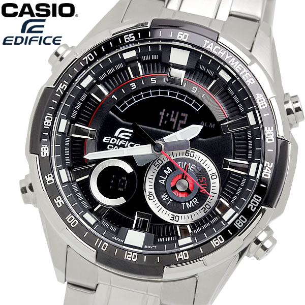 casio EDIFICE カシオ エディフィス クオーツ 腕時計 メンズ フルオートカレンダー 10気圧防水 ワールドタイム 温度計測 ストップウォッチ アラーム ERA600D1A