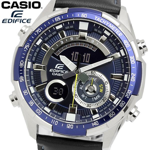 casio EDIFICE カシオ エディフィス クオーツ 腕時計 メンズ フルオートカレンダー 10気圧防水 ワールドタイム 温度計測 ストップウォッチ アラーム ERA600L2AV